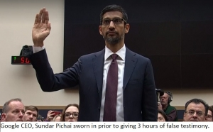 Google CEO Takes Oath, Then Lies To Congress Repeatedly